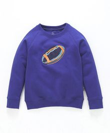 Kiddopanti Football Patch Full Sleeves Sweatshirt - Royal Blue