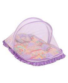 Mee Mee Baby Mattress Set With Mosquito Net And Pillow Vehicle Print - Purple