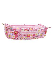 Mothertouch Cradle Cover Hearts & Teddy Print - Pink