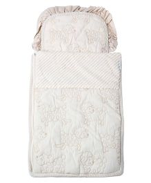Abracadabra - Off White Baby Nest Bag Count The Sheep