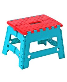 Folding Stool - Blue Red