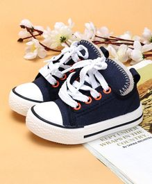 Cute Walk by Babyhug Casual Canvas Shoes - Navy Blue