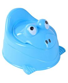 Froggy Shaped Potty Chair With Lid - Blue