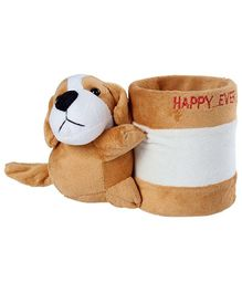 Fab N Funky - Brown Dog Pattern Pencil Stand