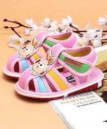 Cute Walk by Babyhug Sandals Animal Patch - Pink