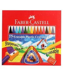 Faber Castell 15 Plastic Crayons