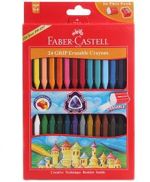 Faber Castell 24 Grip Erasable Crayons