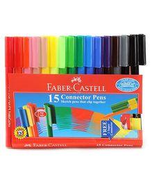 Faber Castell 15 Connector Pens - 14 cm