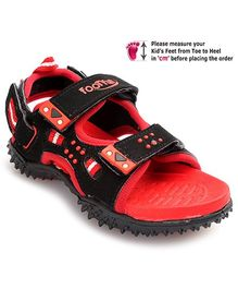 Footfun - Black And Red Splendor Sandal