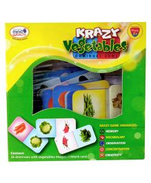 Krazy Vegetables Dominoes Game