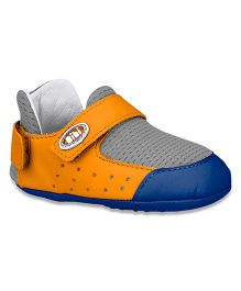 Elefantastik Baby Shoes Style Booties - Orange And Navy