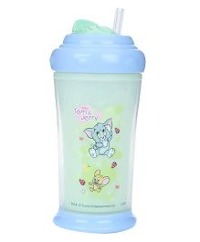Tom and Jerry Double Wall Insulated Cup With Base and Swivel Lid Blue 200 ml