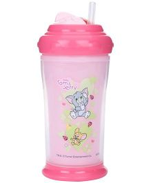 Tom and Jerry Double Wall Insulated Cup With Base and Swivel Lid Pink 200 ml