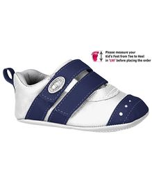 Elefantastik Booties With Velcro Closure - White Navy