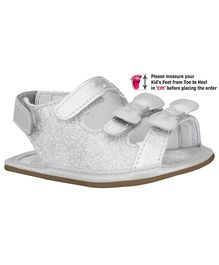 Elefantastik Sandal with Bow and Glitter Effect - Silver
