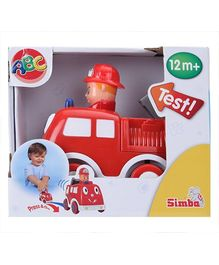 ABC Press And Go Car Toy Red