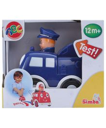 ABC Press And Go Car Toy Blue
