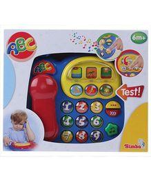 Simba ABC Telephone Toy Blue