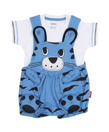 WOW - Cat Romper With Plain T Shirt