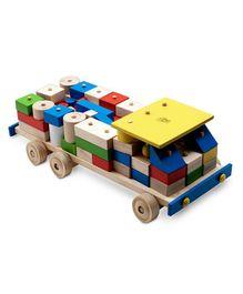 Skillofun - Wooden Building Block Cargo Truck Set 79 Pieces