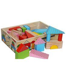 Skillofun - Fun Wooden Building Blocks 60 Pieces