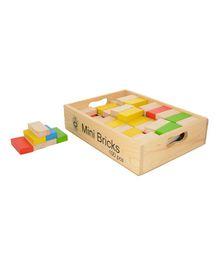 Skillofun - Wooden Mini Bricks Set 100 Pieces