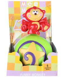 Mee Mee - Funny Monkey Red Toy