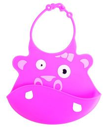 Mee Mee - Silicone Baby Bib Pink