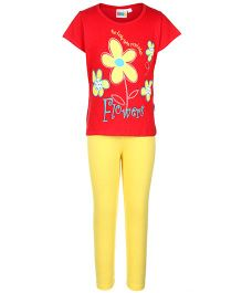 SAPS - Short Sleeves Night Suit Flowers Print