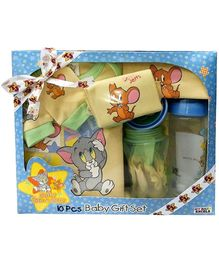 MGM Tom & Jerry - Baby Gift Set Of 10 Pieces Yellow
