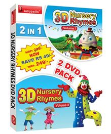 Infobells - 2 In 1 3D Nursery Rhymes DVD Pack