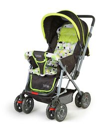 Luv Lap Sunshine Baby Stroller Cum Pram Light Green - 18103