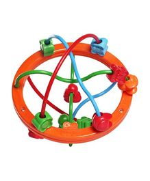 Fisher Price Bead Ball - Orange And Multicolour