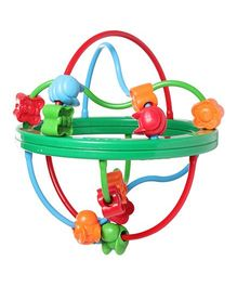 Fisher Price Bead Ball - Green And Multicolour