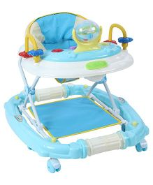 Musical Baby Walker Cum Rocker With Play Tray - Blue