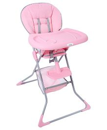 Fab N Funky High Chair With Safety Belt - Pink