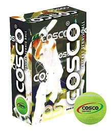 Cosco Cricket Tennis Ball - 6 Balls In One Box Green