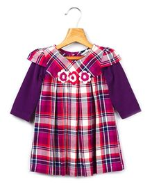Beebay - Long Sleeves Purple Checks Dress