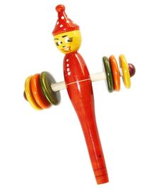 Ecojoy Wooden Blow And Shake Rattle