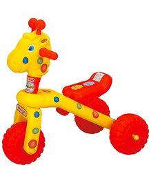 Safari Manual Push Rider Giraffe - Red