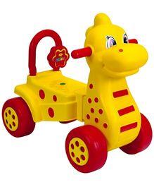 Girnar Manual Push Rider On Dino - Yellow