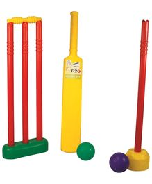 Girnar T-20 Cricket Set - Multi Color