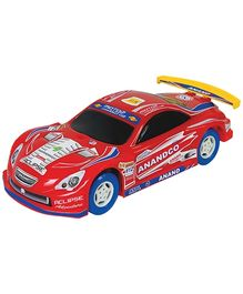 Anand Red Friction Motor Rally Car - 30 Cm