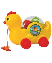 Anand Pull Along Chick Toy - Yellow