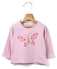 Beebay - Full Sleeves Butterfly Embroidery Top