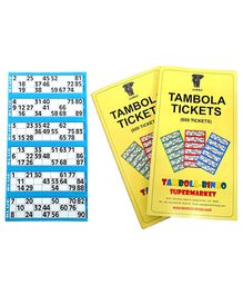 Bingo - Tambola Tickets With Blue Border