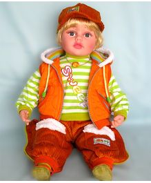 Baby Steps Jack N Jill Boy Doll - Orange