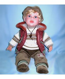 Baby Steps Jack N Jill Boy Doll - Brown