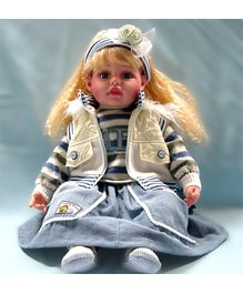 Baby Steps Jack N Jill Girl Doll - Grey