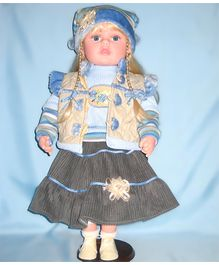 Baby Steps Jack N Jill Girl Doll - Blue